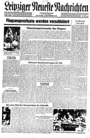 Leipziger neueste Nachrichten und Handelszeitung  vom 01.09.1943