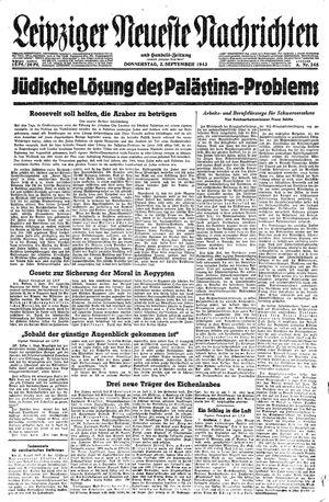 Leipziger neueste Nachrichten und Handelszeitung  vom 02.09.1943