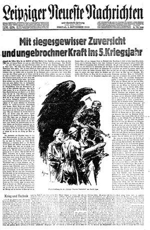 Leipziger neueste Nachrichten und Handelszeitung  vom 03.09.1943