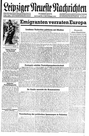 Leipziger neueste Nachrichten und Handelszeitung  vom 04.09.1943