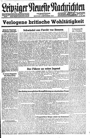 Leipziger neueste Nachrichten und Handelszeitung  vom 05.09.1943