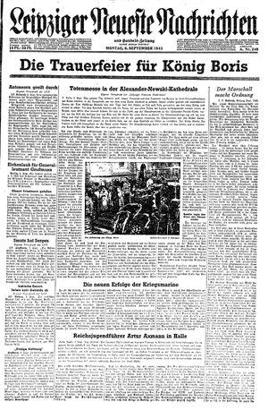 Leipziger neueste Nachrichten und Handelszeitung  vom 06.09.1943