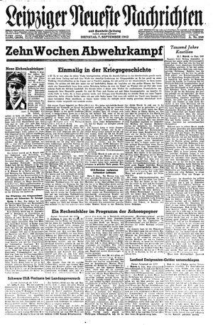 Leipziger neueste Nachrichten und Handelszeitung  vom 07.09.1943