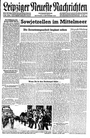 Leipziger neueste Nachrichten und Handelszeitung  vom 08.09.1943