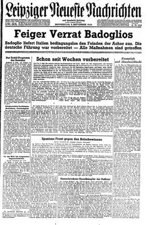 Leipziger neueste Nachrichten und Handelszeitung  vom 09.09.1943
