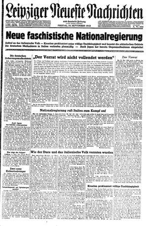 Leipziger neueste Nachrichten und Handelszeitung  vom 10.09.1943