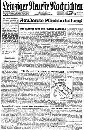 Leipziger neueste Nachrichten und Handelszeitung  on Sep 12, 1943
