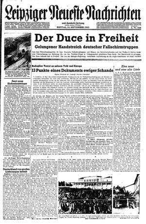 Leipziger neueste Nachrichten und Handelszeitung  on Sep 13, 1943