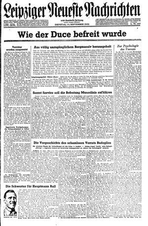 Leipziger neueste Nachrichten und Handelszeitung  vom 14.09.1943