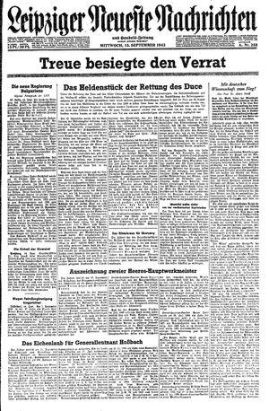 Leipziger neueste Nachrichten und Handelszeitung  on Sep 15, 1943