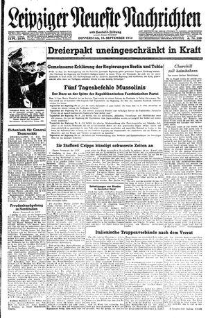 Leipziger neueste Nachrichten und Handelszeitung  on Sep 16, 1943
