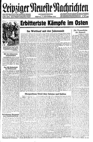 Leipziger neueste Nachrichten und Handelszeitung  on Sep 17, 1943