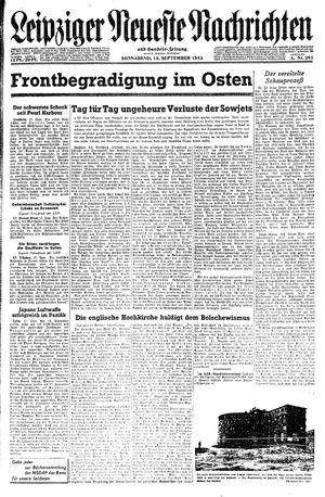 Leipziger neueste Nachrichten und Handelszeitung  on Sep 18, 1943