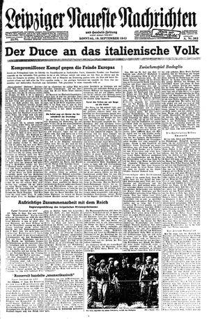 Leipziger neueste Nachrichten und Handelszeitung  vom 19.09.1943