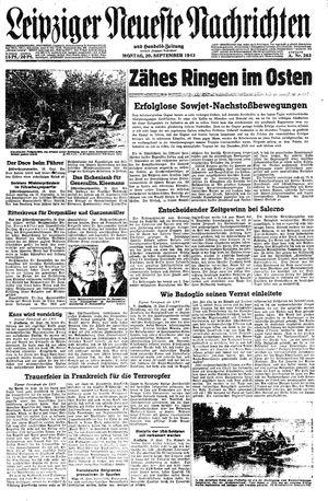Leipziger neueste Nachrichten und Handelszeitung  vom 20.09.1943