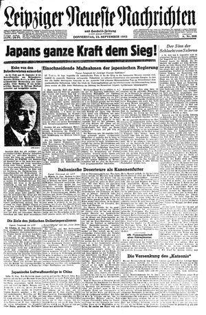 Leipziger neueste Nachrichten und Handelszeitung  vom 23.09.1943