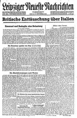 Leipziger neueste Nachrichten und Handelszeitung  on Sep 24, 1943