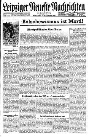 Leipziger neueste Nachrichten und Handelszeitung  vom 25.09.1943