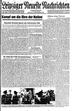 Leipziger neueste Nachrichten und Handelszeitung  vom 27.09.1943
