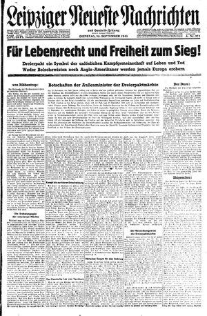 Leipziger neueste Nachrichten und Handelszeitung  vom 28.09.1943