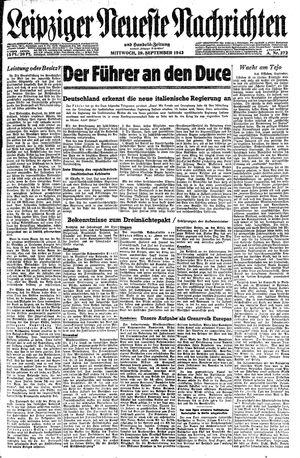 Leipziger neueste Nachrichten und Handelszeitung  on Sep 29, 1943