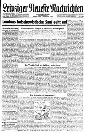 Leipziger neueste Nachrichten und Handelszeitung  vom 02.10.1943