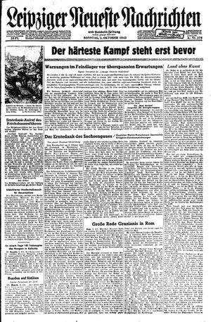 Leipziger neueste Nachrichten und Handelszeitung  vom 03.10.1943