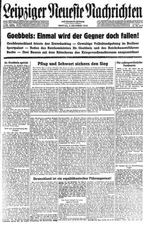 Leipziger neueste Nachrichten und Handelszeitung  vom 04.10.1943