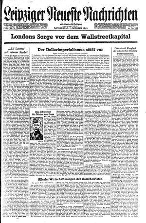 Leipziger neueste Nachrichten und Handelszeitung  vom 07.10.1943