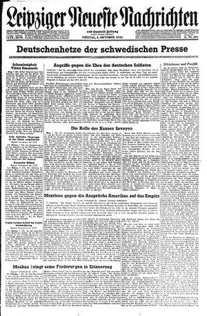 Leipziger neueste Nachrichten und Handelszeitung  vom 08.10.1943