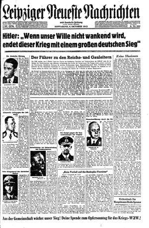 Leipziger neueste Nachrichten und Handelszeitung  on Oct 9, 1943