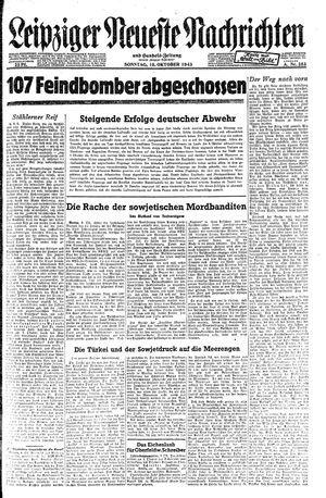 Leipziger neueste Nachrichten und Handelszeitung  vom 10.10.1943