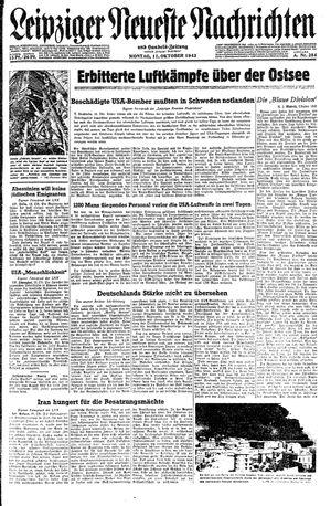 Leipziger neueste Nachrichten und Handelszeitung  vom 11.10.1943