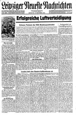 Leipziger neueste Nachrichten und Handelszeitung  vom 12.10.1943