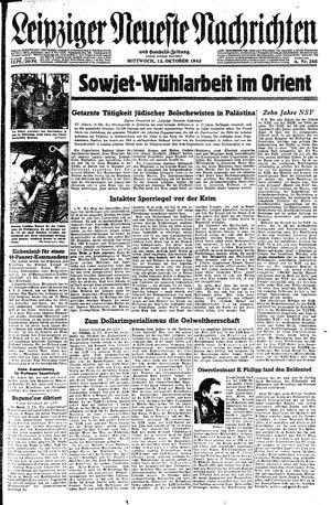 Leipziger neueste Nachrichten und Handelszeitung  vom 13.10.1943