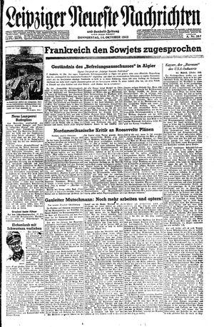 Leipziger neueste Nachrichten und Handelszeitung  vom 14.10.1943