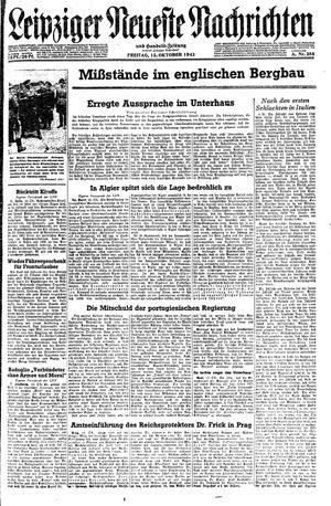 Leipziger neueste Nachrichten und Handelszeitung  vom 15.10.1943