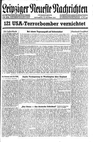 Leipziger neueste Nachrichten und Handelszeitung  on Oct 16, 1943