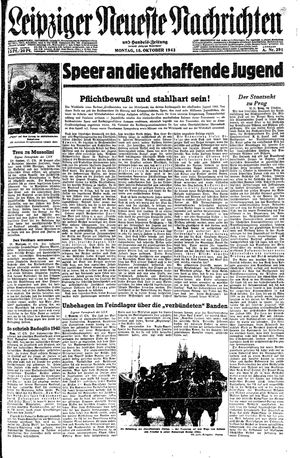 Leipziger neueste Nachrichten und Handelszeitung  vom 18.10.1943