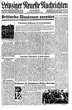 Leipziger neueste Nachrichten und Handelszeitung  vom 20.10.1943
