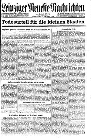 Leipziger neueste Nachrichten und Handelszeitung  vom 21.10.1943