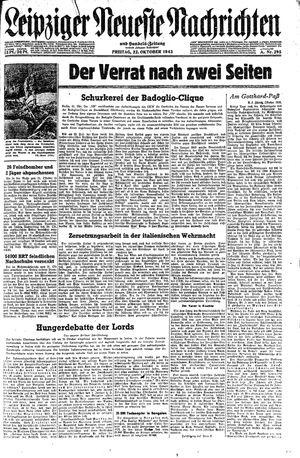 Leipziger neueste Nachrichten und Handelszeitung  vom 22.10.1943
