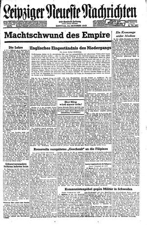 Leipziger neueste Nachrichten und Handelszeitung  vom 24.10.1943