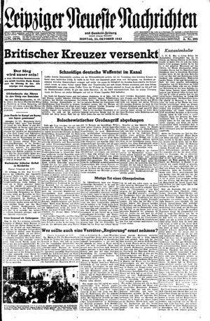 Leipziger neueste Nachrichten und Handelszeitung  vom 25.10.1943