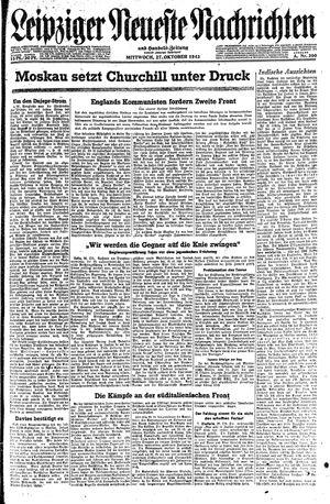 Leipziger neueste Nachrichten und Handelszeitung  vom 27.10.1943