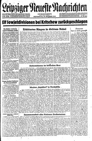Leipziger neueste Nachrichten und Handelszeitung  vom 28.10.1943