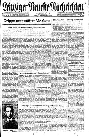 Leipziger neueste Nachrichten und Handelszeitung  vom 29.10.1943