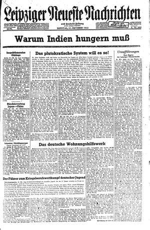 Leipziger neueste Nachrichten und Handelszeitung  vom 31.10.1943