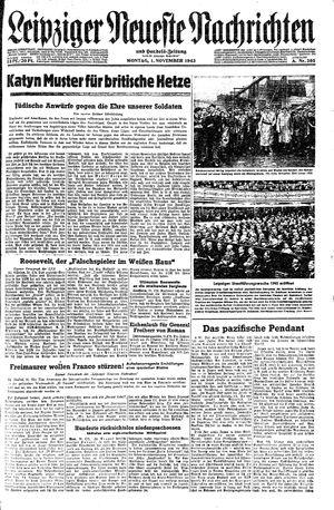 Leipziger neueste Nachrichten und Handelszeitung  vom 01.11.1943
