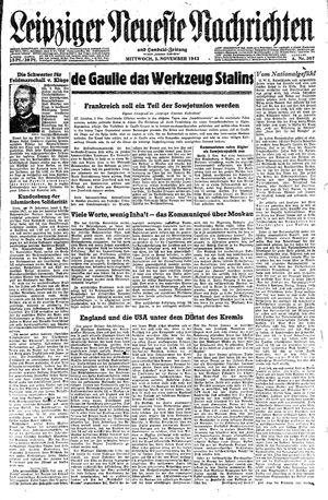 Leipziger neueste Nachrichten und Handelszeitung  vom 03.11.1943